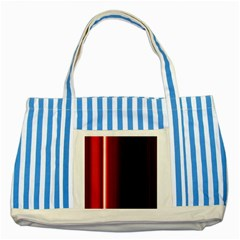 Black And Red Striped Blue Tote Bag