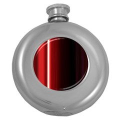 Black And Red Round Hip Flask (5 Oz)