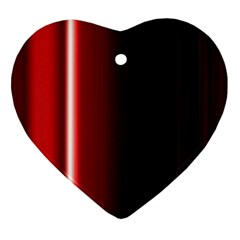 Black And Red Heart Ornament (Two Sides)
