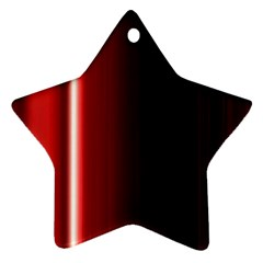 Black And Red Star Ornament (two Sides)