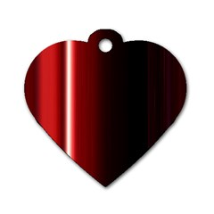 Black And Red Dog Tag Heart (one Side)