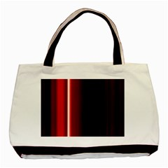 Black And Red Basic Tote Bag (two Sides)