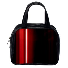 Black And Red Classic Handbags (one Side)