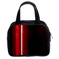 Black And Red Classic Handbags (2 Sides)