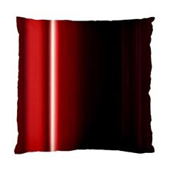 Black And Red Standard Cushion Case (one Side)