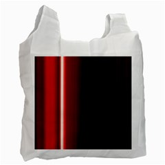 Black And Red Recycle Bag (one Side)