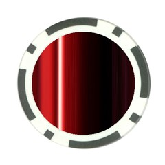 Black And Red Poker Chip Card Guard (10 Pack)