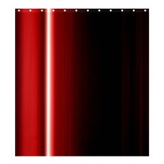Black And Red Shower Curtain 66  X 72  (large)