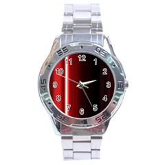 Black And Red Stainless Steel Analogue Watch