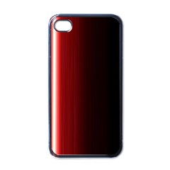 Black And Red Apple Iphone 4 Case (black)