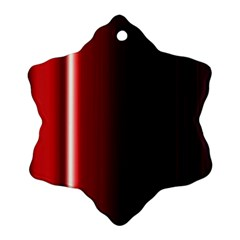 Black And Red Snowflake Ornament (two Sides)