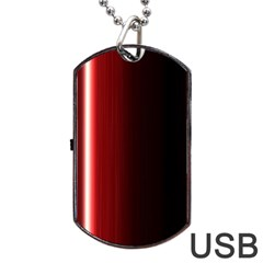 Black And Red Dog Tag Usb Flash (one Side)
