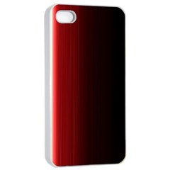 Black And Red Apple Iphone 4/4s Seamless Case (white)