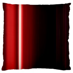 Black And Red Large Cushion Case (one Side)