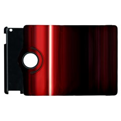 Black And Red Apple Ipad 3/4 Flip 360 Case