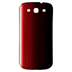 Black And Red Samsung Galaxy S3 S Iii Classic Hardshell Back Case