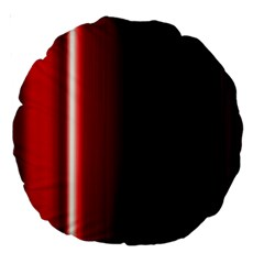 Black And Red Large 18  Premium Round Cushions