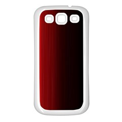 Black And Red Samsung Galaxy S3 Back Case (white)