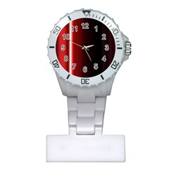Black And Red Plastic Nurses Watch