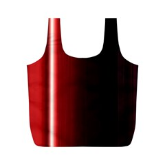 Black And Red Full Print Recycle Bags (m)