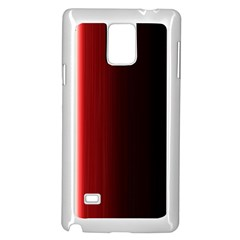 Black And Red Samsung Galaxy Note 4 Case (white)