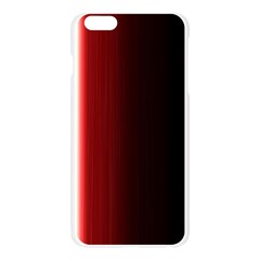 Black And Red Apple Seamless iPhone 6 Plus/6S Plus Case (Transparent)