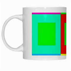 Colors Purple And Yellow White Mugs