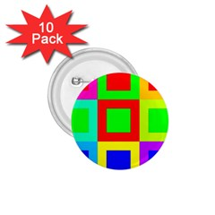 Colors Purple And Yellow 1 75  Buttons (10 Pack)