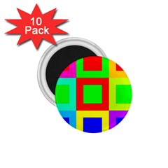 Colors Purple And Yellow 1 75  Magnets (10 Pack)