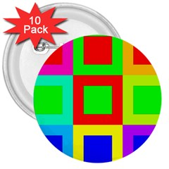 Colors Purple And Yellow 3  Buttons (10 Pack)
