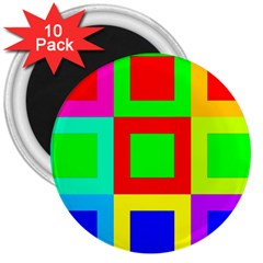 Colors Purple And Yellow 3  Magnets (10 Pack)