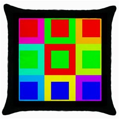 Colors Purple And Yellow Throw Pillow Case (black)