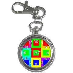 Colors Purple And Yellow Key Chain Watches