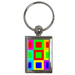 Colors Purple And Yellow Key Chains (rectangle)