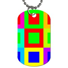 Colors Purple And Yellow Dog Tag (two Sides)