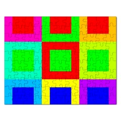 Colors Purple And Yellow Rectangular Jigsaw Puzzl