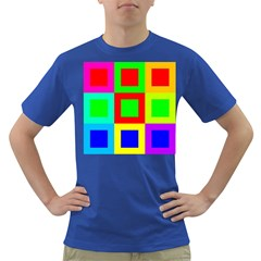 Colors Purple And Yellow Dark T Shirt