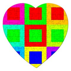 Colors Purple And Yellow Jigsaw Puzzle (heart)