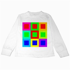 Colors Purple And Yellow Kids Long Sleeve T Shirts