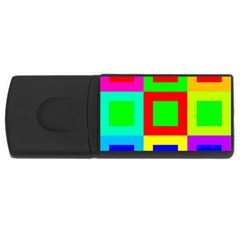 Colors Purple And Yellow Usb Flash Drive Rectangular (4 Gb)