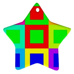Colors Purple And Yellow Star Ornament (two Sides)