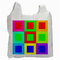 Colors Purple And Yellow Recycle Bag (one Side)