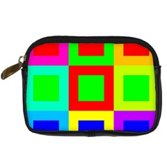 Colors Purple And Yellow Digital Camera Cases