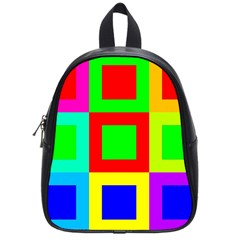 Colors Purple And Yellow School Bags (small)
