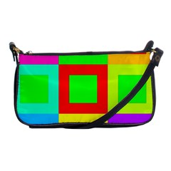 Colors Purple And Yellow Shoulder Clutch Bags