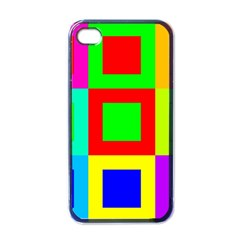 Colors Purple And Yellow Apple Iphone 4 Case (black)