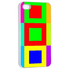 Colors Purple And Yellow Apple Iphone 4/4s Seamless Case (white)