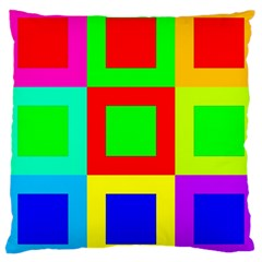 Colors Purple And Yellow Large Cushion Case (one Side)