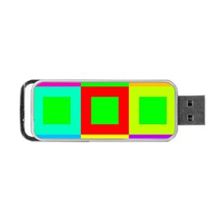 Colors Purple And Yellow Portable Usb Flash (two Sides)