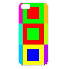 Colors Purple And Yellow Apple Iphone 5 Seamless Case (white)
